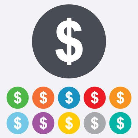 Dollarsteken icoon Stock Illustratie