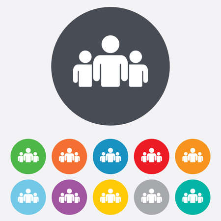 Group of people sign icon