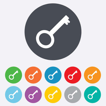 Key sign icon Vector