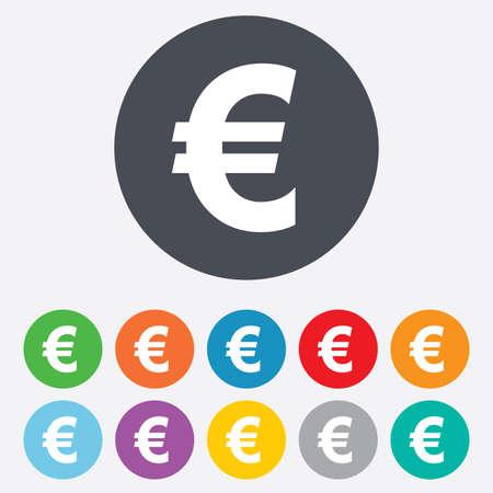 euro teken: Euro teken pictogram Stock Illustratie