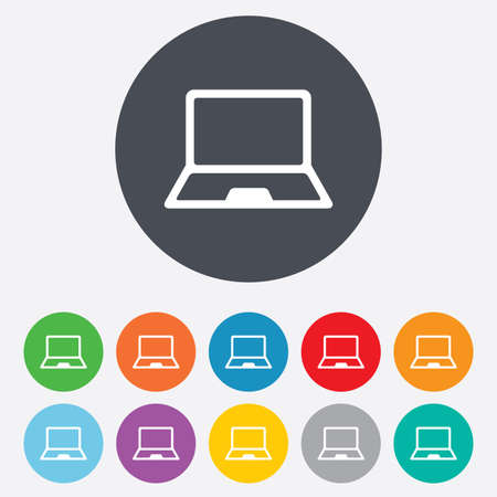 Laptop sign icon Stock Vector - 25075326
