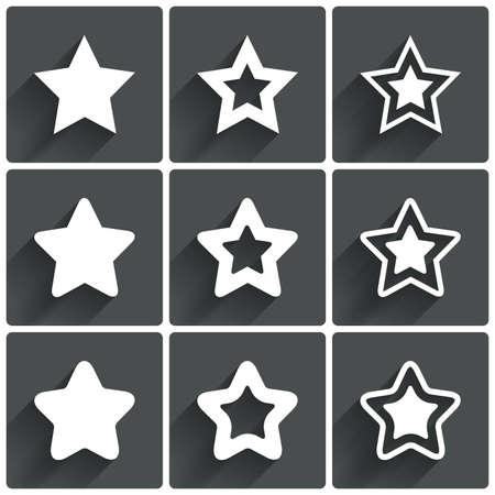 star icons: Star icons. Rating stars symbols. Feedback rating. Vector illustration. Illustration