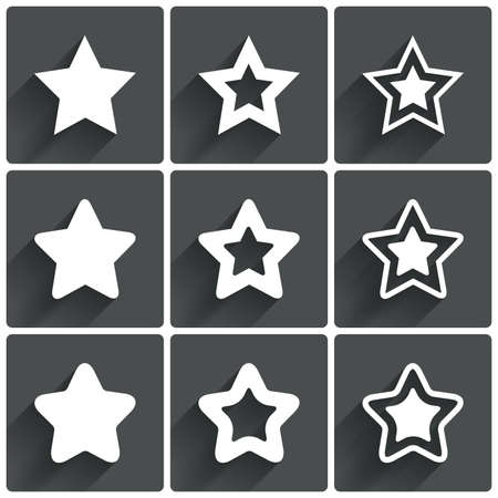 Star icons. Rating stars symbols. Feedback rating.  illustration. illustration
