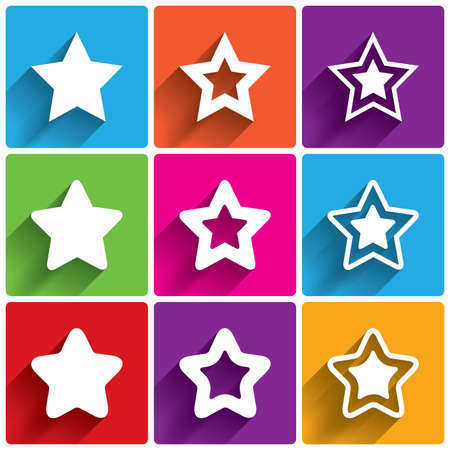 Star icons. Rating stars symbols. Feedback rating. Vector illustration. Vector