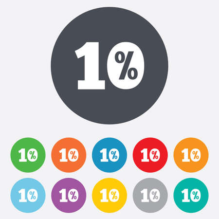 ten best: 10 percent discount sign icon. Sale symbol. Special offer label. Round colourful 11 buttons. Stock Photo
