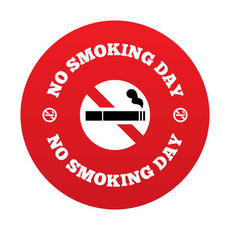 No smoking day sign. Quit smoking day symbol. Vector illustration. Vector