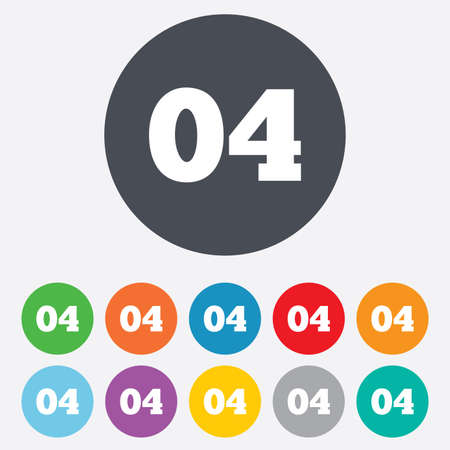 Fourth step sign. Loading process symbol. Step four. Round colourful 11 buttons. Vector Vector