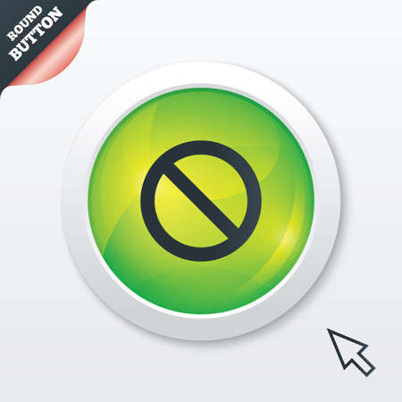 blacklist: Blacklist sign icon. User not allowed symbol. Green shiny button. Modern UI website button with mouse cursor pointer. Stock Photo