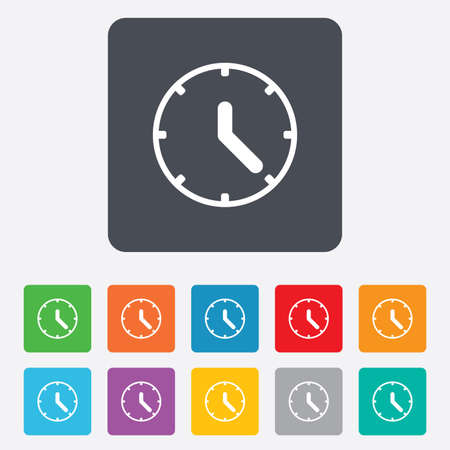 Clock sign icon. Mechanical clock symbol.  Vector