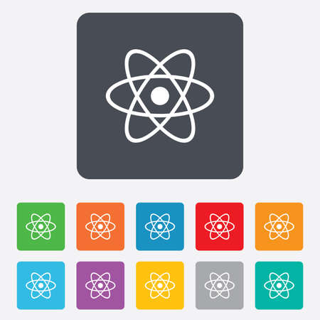 Atom sign icon. Atom part symbol.  Vector