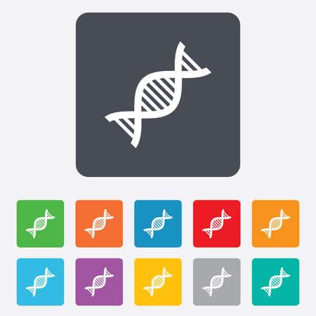 deoxyribonucleic acid: DNA sign icon. Deoxyribonucleic acid symbol.