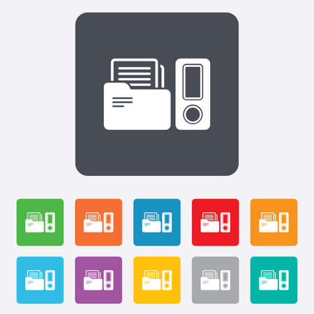 Document folder sign. Accounting binder symbol. Bookkeeping management.  Vector