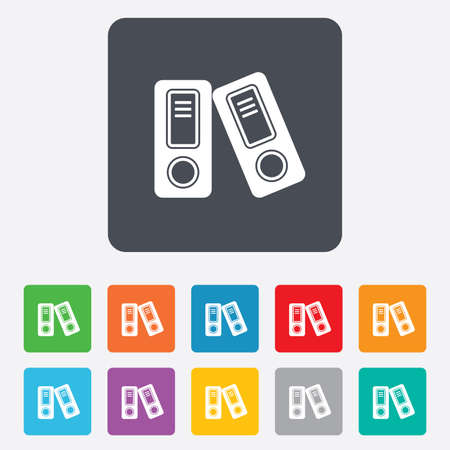 bookkeeping: Document folder sign. Accounting binder symbol. Bookkeeping management.