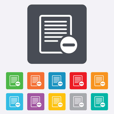 Text file sign icon. Illustration