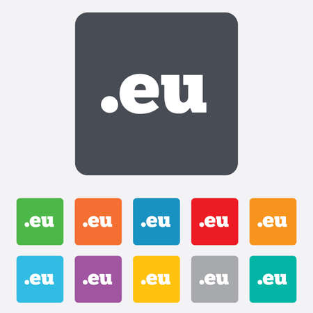 domain: Domain EU sign icon.