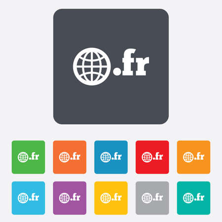 domain: Domain FR sign icon.