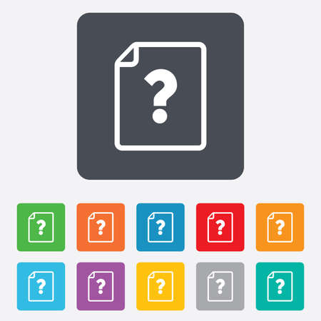 File document help icon.  Vector