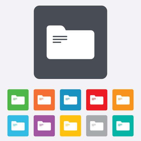 Document folder sign. Vector