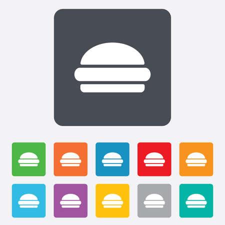 Hamburger sign icon. Vector
