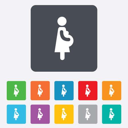 Pregnant sign icon.  Vector