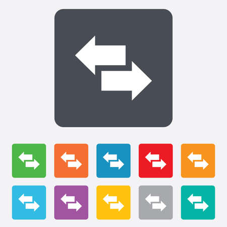 outgoing: Incoming and outgoing calls sign. Upload. Download arrow symbol. Rounded squares 11 buttons. Stock Photo