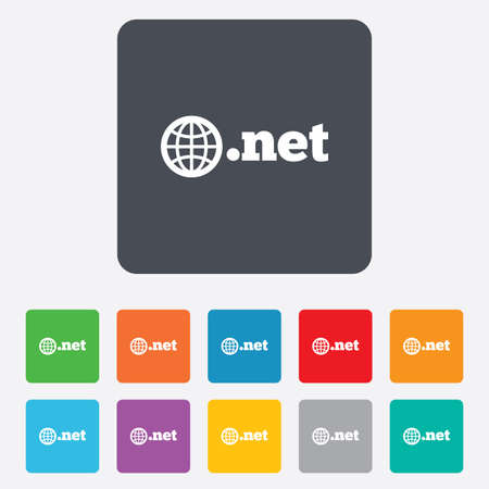 domain: Domain NET sign icon Stock Photo