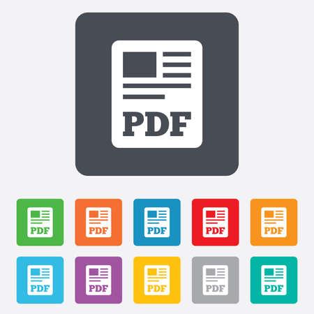 PDF-bestand document icoon Stockfoto