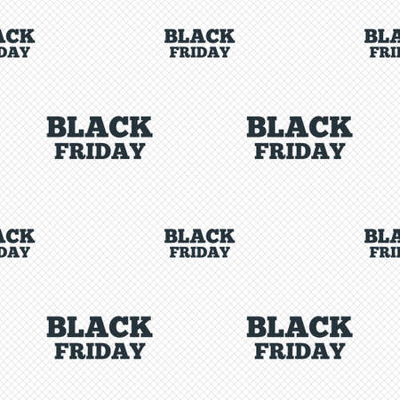 Black friday sign icon. Sale symbol. Special offer label. Seamless grid lines texture. Cells repeating pattern. White texture background. Vector Vector