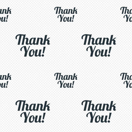 thanks a lot: Thank you sign icon. Customer service symbol. Seamless grid lines texture. Cells repeating pattern. White texture background. Vector