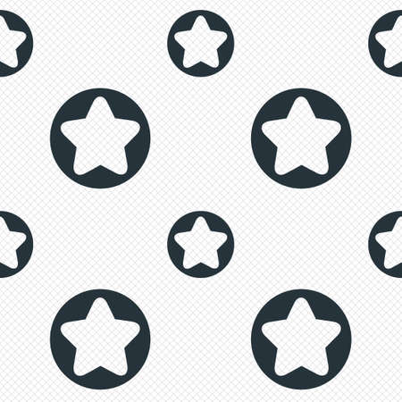 Star sign icon. Favorite button. Navigation symbol. Seamless grid lines texture. Cells repeating pattern. White texture background. Vector Vector