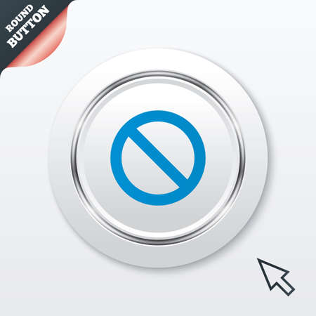 blacklist: Blacklist sign icon. User not allowed symbol. White button with metallic line. Modern UI website button with mouse cursor pointer. Vector
