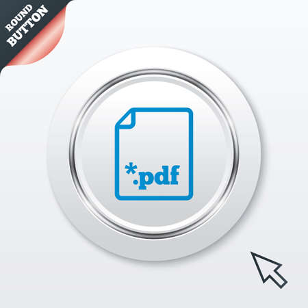 PDF file document icon. Download pdf button. PDF file extension symbol. White button with metallic line. Modern UI website button with mouse cursor pointer. Vector Stock Vector - 28461952