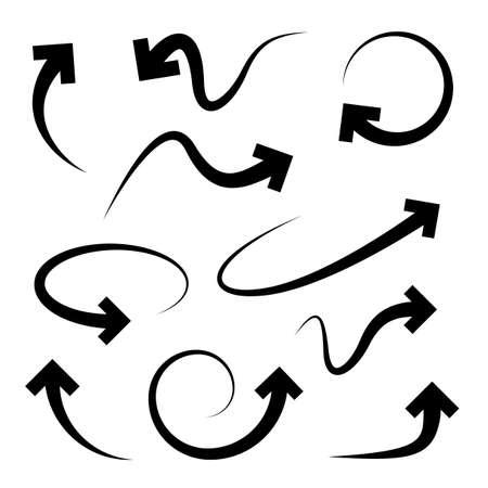 Flechas curvadas establecidos