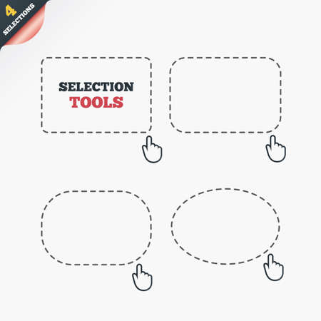 allocate: Selection dashed lines with mouse cursor. Arrow pointer