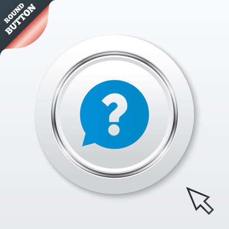 Question mark sign icon. Help speech bubble symbol. Vector