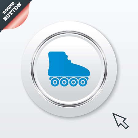 rollerblade: Roller skates sign icon. Rollerblade symbol.