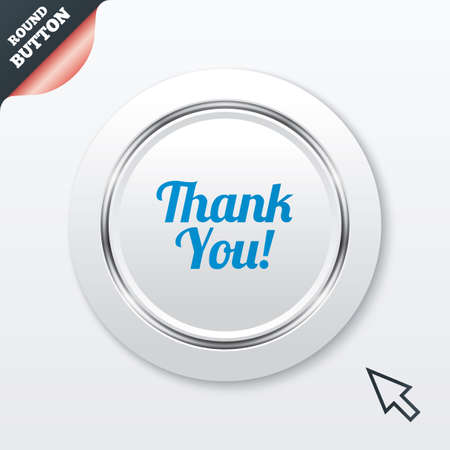 thanks a lot: Thank you sign icon. Customer service symbol.