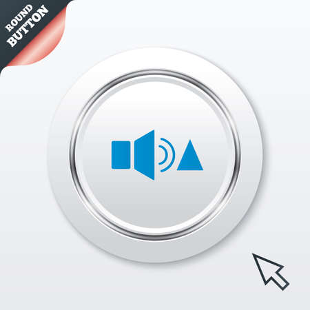 louder: Speaker volume louder sign icon.  Illustration