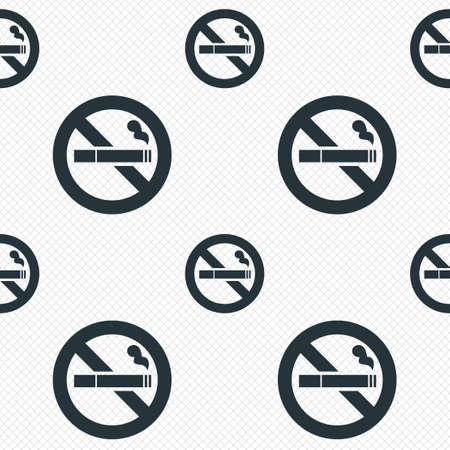No Smoking sign icon. Cigarette symbol. Seamless grid lines texture. Cells repeating pattern. White texture background. photo