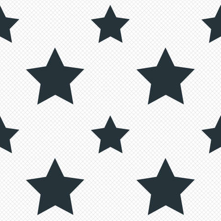 Star sign icon. Favorite button. Navigation symbol. Seamless grid lines texture. Cells repeating pattern. White texture background. photo