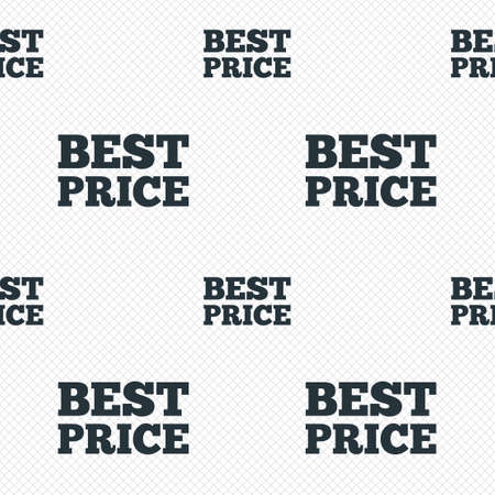 Best price sign icon. Special offer symbol. Seamless grid lines texture. Cells repeating pattern. White texture background. photo