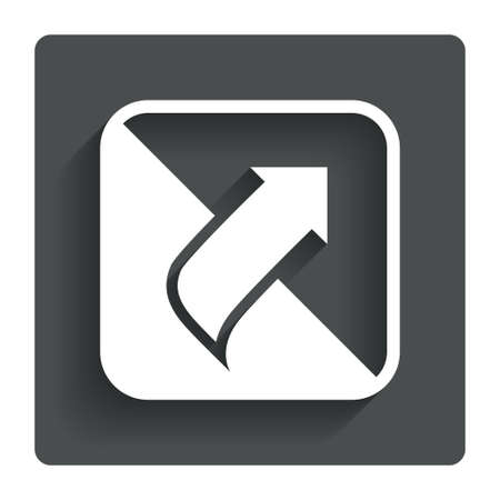 Turn page sign icon. Peel back the corner of the sheet symbol. Gray flat button with shadow. Modern UI website navigation. Vector Vector