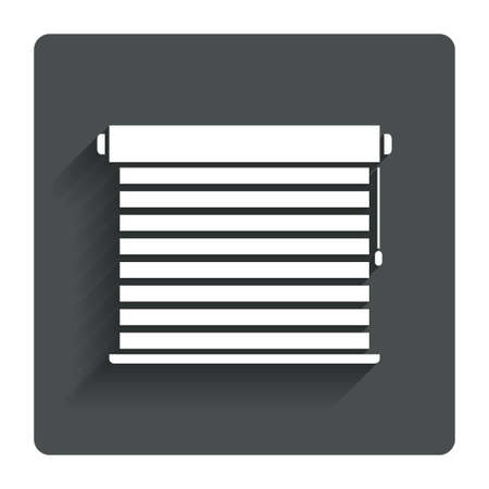Louvers sign icon. Window blinds or jalousie symbol. Gray flat button with shadow. Modern UI website navigation. Vector Vector