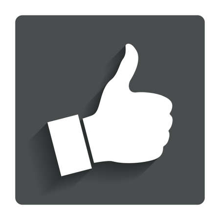 cut up: Like sign icon Thumb up sign.