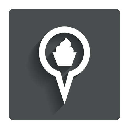 Map pointer food sign icon.  photo
