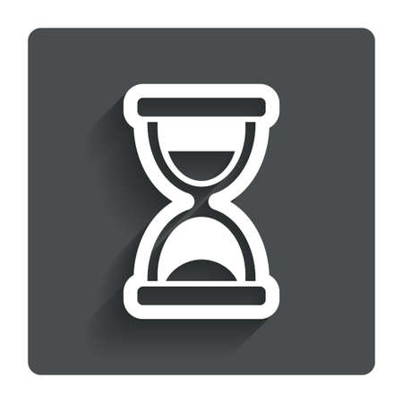 sand timer: Hourglass sign icon. Sand timer symbol. Stock Photo