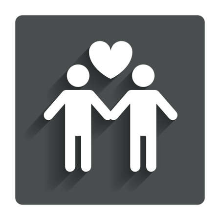 homosexual sex: Couple sign icon.