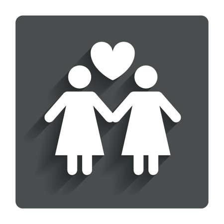 femme amoureuse: Couple signe ic�ne Femme amour femme.