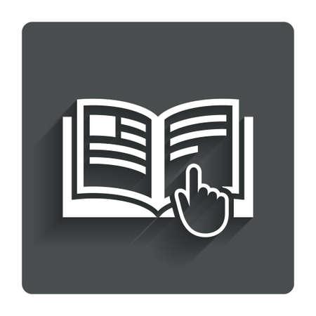 instruction: Instruction sign icon.  Stock Photo