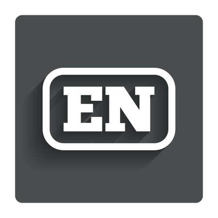 english language: English language sign icon.